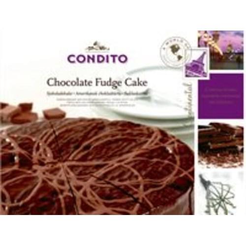 CHOCOLATE FUDGE CAKE 1000GX6 OPPDELT 12 BITER