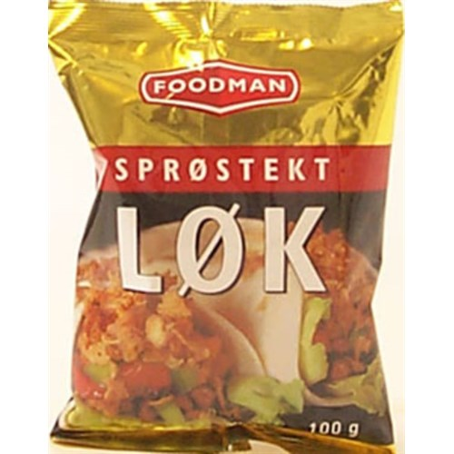 LØK SPRØSTEKT GLUTENFRI 100GX20POS FOODMAN