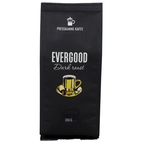 EVERGOOD DARK ROAST PRESSMALT 250GX12POS