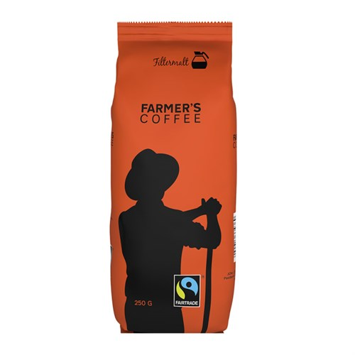 FARMERS COFFEE FAIRTRADE FILTERMALT 250GX12POS