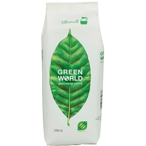 GREEN WORLD KAFFE ØKOL.FAIRTRADE 250GX12POS