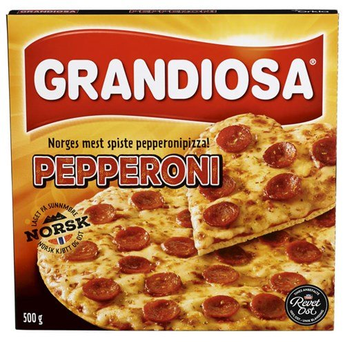 PIZZA GRANDIOSA PEPPERONI 480GX10PK ORKLA