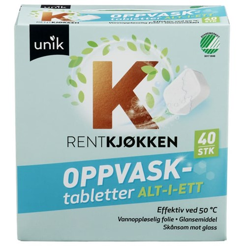 UNIK MASKINOPPVASK TABLETTER 40STKX12PK
