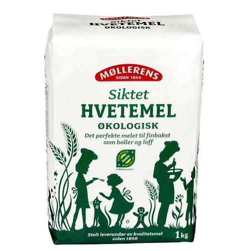 HVETEMEL SIKTET ØKOLOGISK 1KGX10PK MØLLERENS