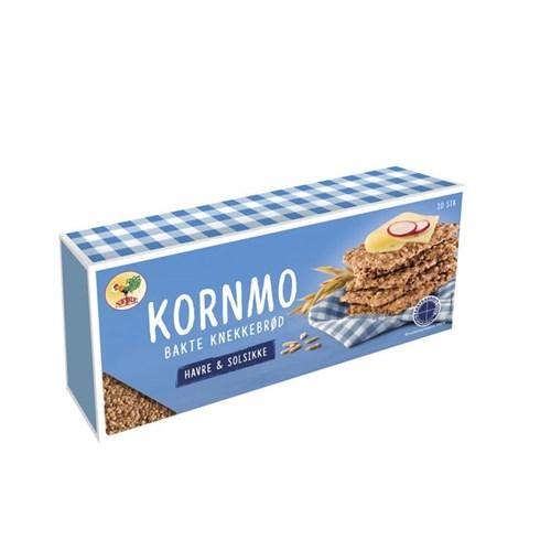 KORNMO KNEKKEBRØD HAVRE&SOLSIKKE 200GX10PK