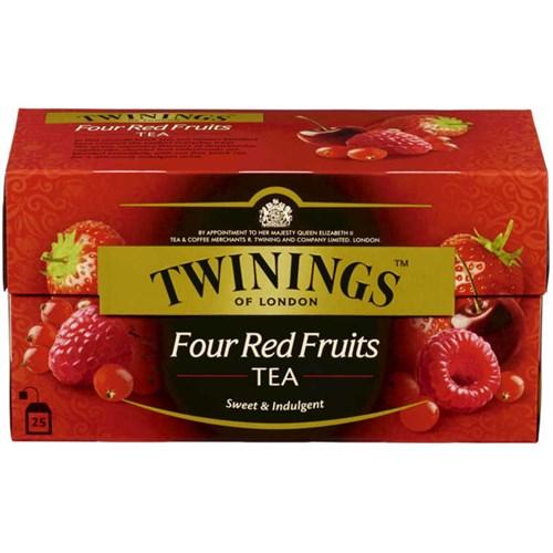 TE TWININGS FOUR RED FRUITS 25POSX12PK