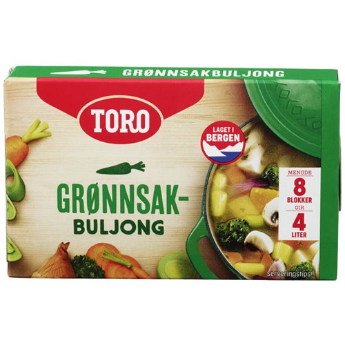 GRØNNSAKSBULJONG 80GX12PK TORO