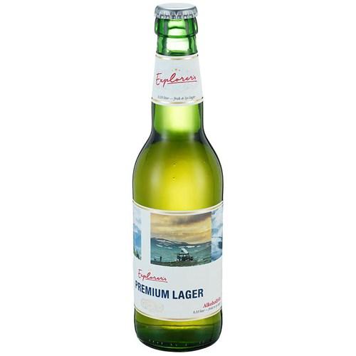 EXPLORERS SOCIETY PREMIUM LAGER ALKOHOLFRI 0,33LX24FL FL