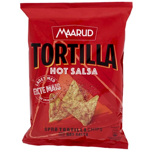 TORTILLACHIPS HOT SALSA 150GX20POS MAARUD