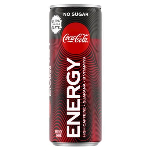 COCA-COLA U/SUKKER ENERGY 0,25LX12STK COCA-COLA