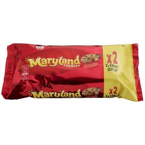 MARYLAND COOKIES CHOCOLATE&HAZELNUT 2PK 272GX10PK