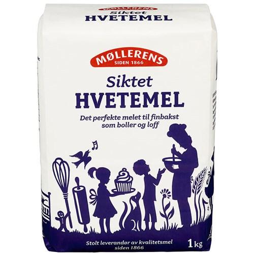 HVETEMEL SIKTET 1KGX10PK MØLLERENS